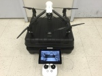 Inspire1 on the included road case, waiting for flight.